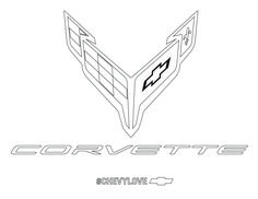 Fly your own Corvette flag. Coloring Pages For Kids, Coloring Books, Car Activities, Baby Safety, Corvettes, Dream Garage, Spaceships, Crafty Craft, Chevrolet Corvette