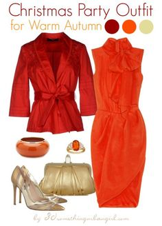 glamorous and warm office Christmas party outfits for Warm Autumn