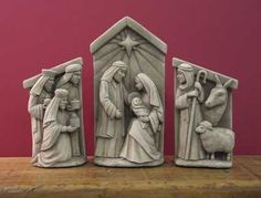 A Stable In Bethlehem- Set -- Carruth Studio: Waterville, OH