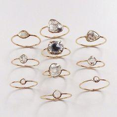 dainty rings #jennifermeyer