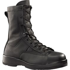 800 ST Belleville Men's Flight/Flight Deck Safety Boots - Black Safety Shoes For Men, Safety Footwear, Belleville Boots, Best Work Shoes, Slip Resistant Shoes, Flight Deck, Black Boots, Leather Boots, Combat Boots