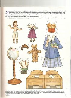 (⑅ ॣ•͈ᴗ•͈ ॣ)♡                                                             ✄Sew Beautiful paper doll Geography 2 by Lagniappe*Too, via Flickr