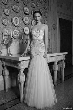 alon livne white 2015 bridal charlotte mermaid wedding dress spaghetti straps embellished bodice