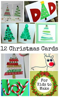 Christmas cards that kids can make and Tuesday Tutorials Week 46 - In The Playroom