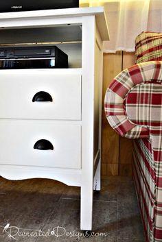 Vintage Dresser Turned TV Stand - Recreated Designs
