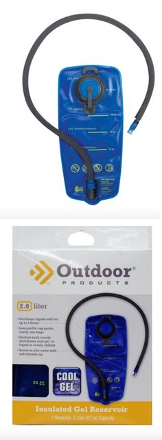 Hydration Packs 87125: Bladder Hydration Outdoor Products Insulated Cool 2 Liter Water Blue Hiking New BUY IT NOW ONLY: $37.38