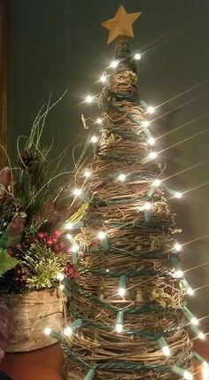 Grapevine tree & Grapevine tree with lights by KreativeCreations11 on Etsy $25.00 ...