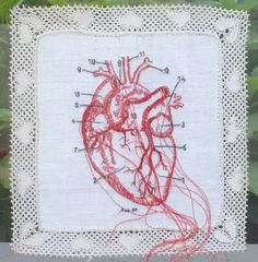 Karin van der Linden ~ Borduurwerk (embroidery) | via artist's uploads: pinterest.com/sierlinde/