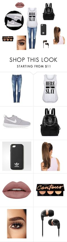 """""""Here To Slay"""" by sissyart101 ❤ liked on Polyvore featuring AG Adriano Goldschmied, NIKE, adidas and plus size clothing"""