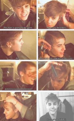 Justin Bieber, I will always remember this day and video when we said bye to the hairflip