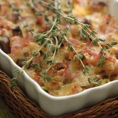 Crumble d'automne au bacon et fromage