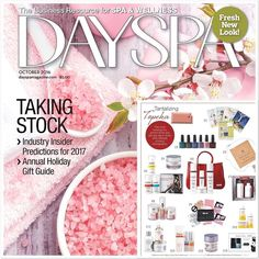 Happy #friday folks! I'm super excited about my Rose Quartz necklace making it from my hands to the DAYSPA magazine! Check out their October issue! Holy moly! #friyay #spa #october