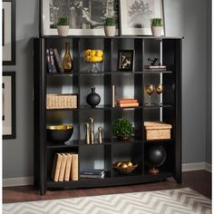 Bush Furniture Aero 16 Cube Bookcase in Classic Black is part of Classic furniture Black - Lowest price online on all Bush Furniture Aero 16 Cube Bookcase in Classic Black Black Bookshelf, Cube Bookcase, Cube Shelves, Cube Storage, Ikea Storage, Closet Storage, Storage Shelves, Barrister Bookcase, Cube Organizer