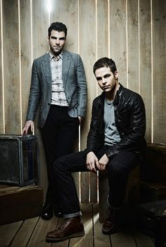Zachary Quinto and Chris Pine (yum!)