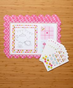 Look what I found on #zulily! Tea Time Activity Place Mats - Set of 24 #zulilyfinds