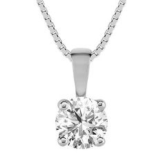 "Round Diamond Solitaire Pendant (18"")...thank you Santa, Wink!"