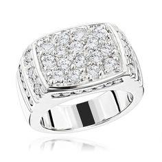 14K Gold Men's Diamond Ring 2.68ct #rings