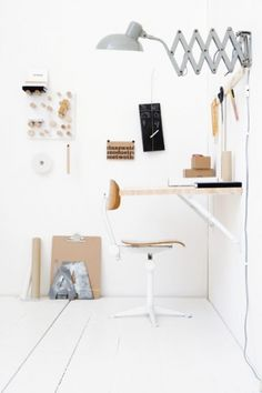 desk / workspace + peaceful white