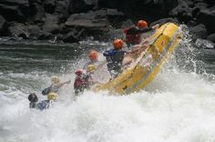 White Water Rafting in Victoria Falls Raft the biggest white water rafting rapids in the World at Victoria Falls. Raft below the Victoria Falls along the mighty Zambezi River. The white water rafting below the Victoria Falls is commonly recognized as the best Grade 5 white water rafting in the World.The white water rafting below the Victoria Falls is commonly recognized as the best Grade 5 white water rafting in the World. Raft the biggest white water rapids in the World at Vi...