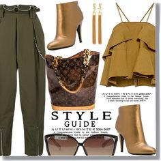 Street Style by drigomes on Polyvore featuring polyvore, moda, style, Rachel Comey, Alexander Wang, Casadei, Louis Vuitton, Yves Saint Laurent, Linda Farrow and fashion