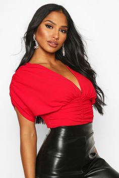 Fashion Wear, Fashion Outfits, Latest Tops, V Neck Dress, Photography Poses, Off The Shoulder, Makeup Looks, Leather Skirt, Hair Cuts