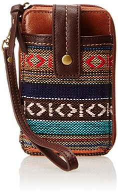 "Sak® 'Iris"" smartphone wallet wristlet in 'Tribal Loom' (woven fabric, leather) $38"