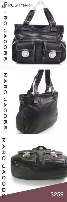 cfe52f06e 💕SALE💕 Marc Jacobs Black Leather Stella Tote Bag Gorgeous 💕 Marc Jacobs  Black Leather