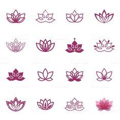 Vector floral labels for Wellness industry – abdulaziz alzahrani Lotus symbol icons. Vector floral labels for Wellness industry Vector Lotus labels for Wellness industry royalty-free stock vector art Trendy Tattoos, Love Tattoos, Body Art Tattoos, New Tattoos, Hand Tattoos, Small Tattoos, Tattoos For Women, Buddha Tattoos, Awesome Tattoos