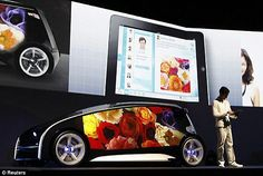 Toyota's new smart-phone, touch-screen exterior concept car.