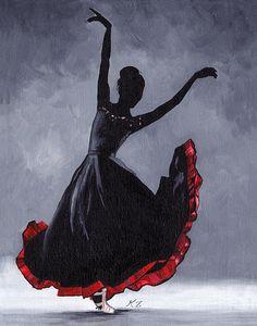 Original Acrylic Painting on Canvas 'Leon' Flamenco Dancer Ballet Modern Contemporary Ballet Painting, Dance Paintings, Indian Art Paintings, Acrylic Painting Canvas, Canvas Art, Art Drawings Sketches Simple, Pencil Art Drawings, Dancing Drawings, Oil Pastel Art