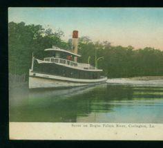 Scene on Bogue Falaya River, Covington, La :: LSU Libraries Postcard Collections, 1909 Covington Louisiana, Covington La, Creole Cottage, Lake Pontchartrain, Louisiana Purchase, National History, West Florida, Episcopal Church, Local History