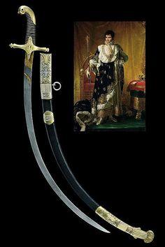 A silver mounted presentation sabre for Jérôme-Napoléon Bonaparte's marriage. Germany, ca. 19th century.