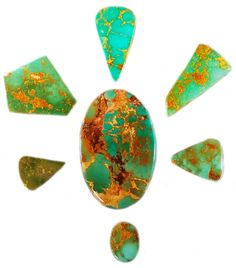 Ultra High Grade Manassa Turquoise Cabochons are great examples of Natural Colorado Turquoise