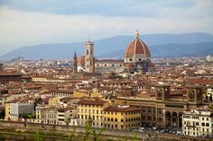 Florence, Italy. View from Michelangelo Piazzale. I recommend viewing the city from this vantage point. Contact me for more info, Liz Nugent Travel Consulting