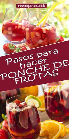 Pasos para hacer PONCHE DE FRUTAS #ponche #bebida #frutas #recetas #