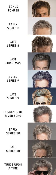 I'll venture that Capaldi has the most fabulous hair of the New Who Doctors. Yes, even more fabulous than David Tennant.