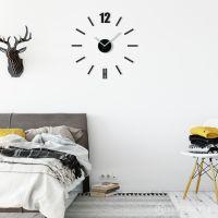 3D Nalepovacie hodiny DIY ADMIRABLE L SWEEP z54b-1, čierne 50-75cm Diy Clock, Cladding, 3d, Design, Home Decor, Decoration Home, Room Decor, Home Interior Design