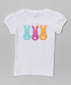 Look at this #zulilyfind! White Spring Break Bunny Tee - Infant, Toddler & Girls by Waistin' Away #zulilyfinds