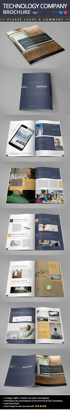 Company Brochure Insurance Bi-Fold Design Template Corporate - technology brochure template