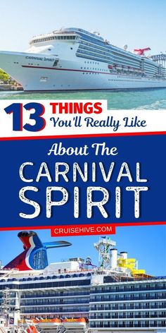 Here are all the things you'll like about the Carnival Spirit cruise ship. What to know before your Carnival cruise. #cruisehive #cruise #cruises #carnivalcruise #carnivalship #cruisetips