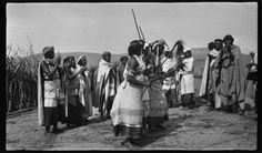 Girl's initiation dance, 1931. From the Monica and Godfrey Wilson Collection. The photographs in this digital archive are reproductions of negatives captured by Monica Hunter in Pondoland and the Eastern Cape in 1931 and 1932, and by Monica Hunter Wilson and Godfrey Wilson in Bunyakyusa between 1934 and 1937.