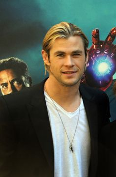 Chris Hemsworth look behind you Man of Iron is going to grab you -what even