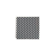 Untersetzer Zigzag schwarz ca B:10 x L:10 cm