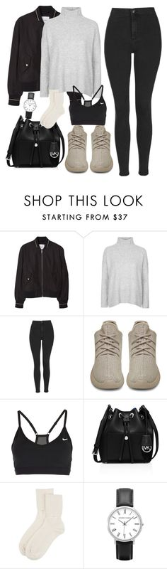 """""""Thea Queen Inspired Outfit"""" by staystronng ❤ liked on Polyvore featuring MANGO, Topshop, adidas Originals, NIKE, MICHAEL Michael Kors, Johnstons of Elgin, Winter, Arrow and theaqueen"""