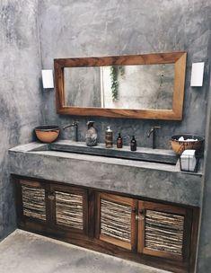 36 Modern Rustic Bathroom Decor Ideas – – rustic home diy Rustic Bathroom Designs, Rustic Bathroom Decor, Rustic Bathrooms, Bathroom Interior, Rustic Shower, Bedroom Rustic, Rustic Nursery, Rustic Kitchen, Tadelakt