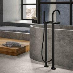 Bateria wannowa podłogowa została zaprojektowana i wykonana w przepięknej, nowoczesnej formie. Wyposażona również w słuchawkę prysznicową i wąż. Bateria wannowa wyróżnia się modną, wysoką formą i eleganckim prostym uchwytem.  #bateriałazienkowa #bateriawolnostojąca #wanna #łazienka #mieszkanie #dom #projektowaniewnętrz #inspiracja #remont #steinberg Dom, Home Decor, Decoration Home, Room Decor, Interior Design, Home Interiors, Interior Decorating