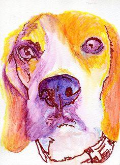Beagle art print, Colorful Beagle dog art, beagle mom, Beagle dog portrait,Beagle gift ideas, Gift for Beagle owner,… #dogs #pets #puppy