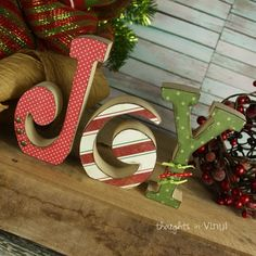Joy Letters. Christmas Craft