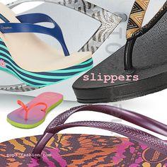 De populaire zomer slippers kun je onderverdelen in  open, dichte slippers en teenslippers. Vooral de teenslipper is wat je noemt de minimale schoen en is enkel een zool en bandje tussen de grote en de tweede teen. MEER  http://www.pops-fashion.com/?p=20847