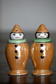 Noritake Morimura Art Deco Porcelain Clown Figural S&P Shakers 1920s